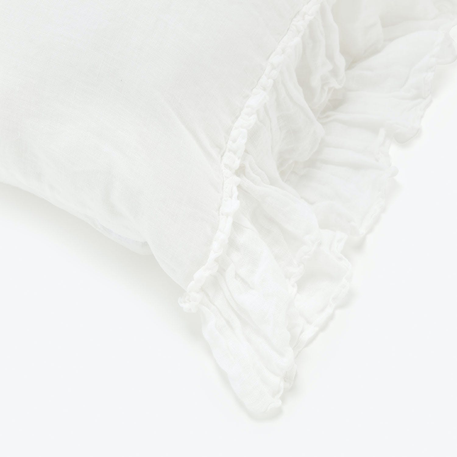Bella Notte White Whisper Linen Standard Pillowcase