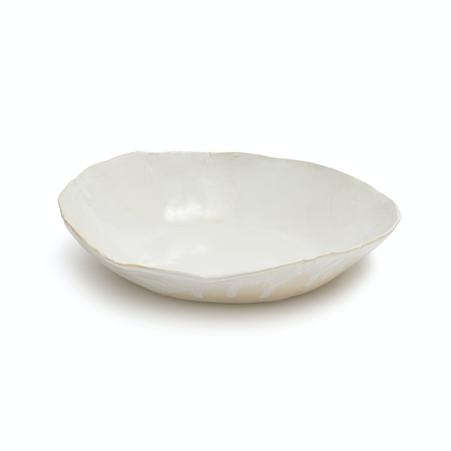 Jan Burtz Porcelain Pasta Bowl White