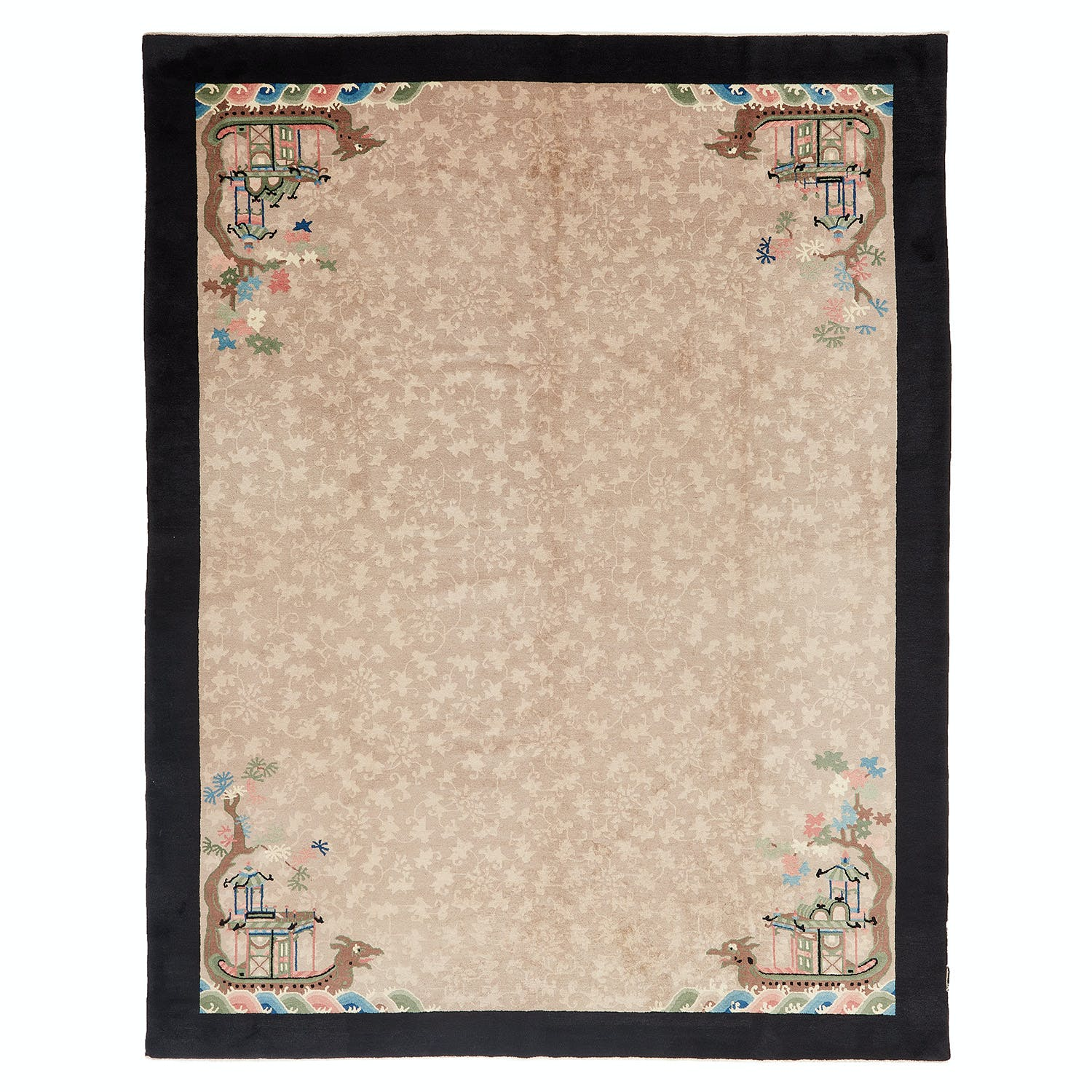 Product Image - Antique Chinese Rug -9'x12'