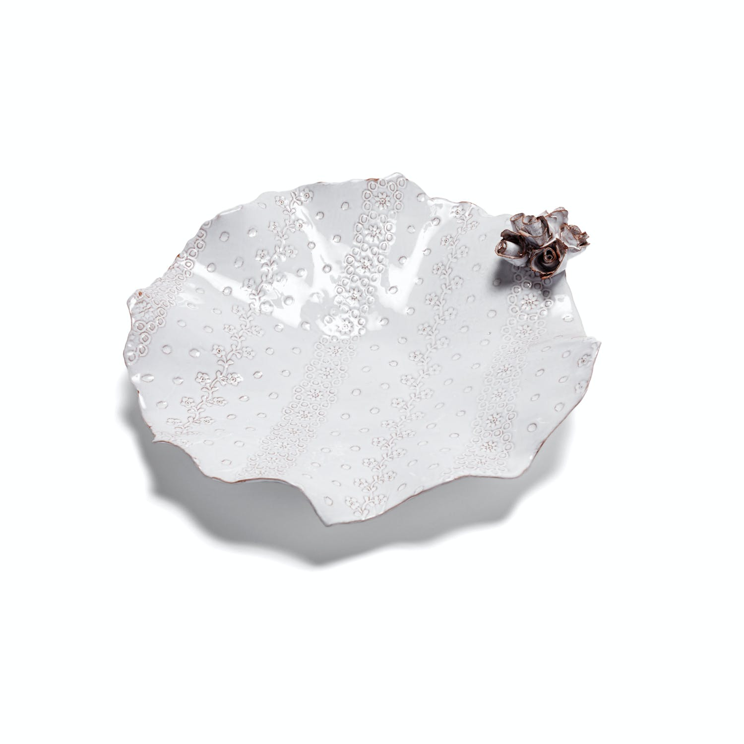 Product Image - White Petite Bowl with Rose
