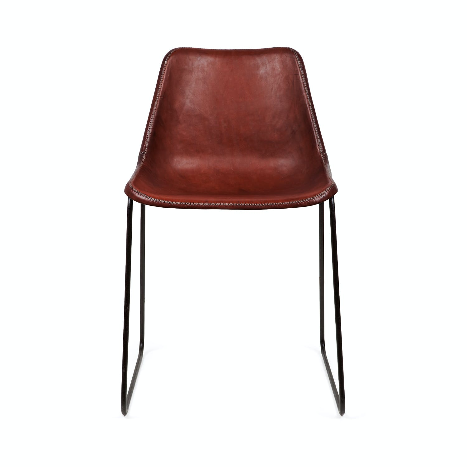 Product Image - Giron Leather Chair Brown