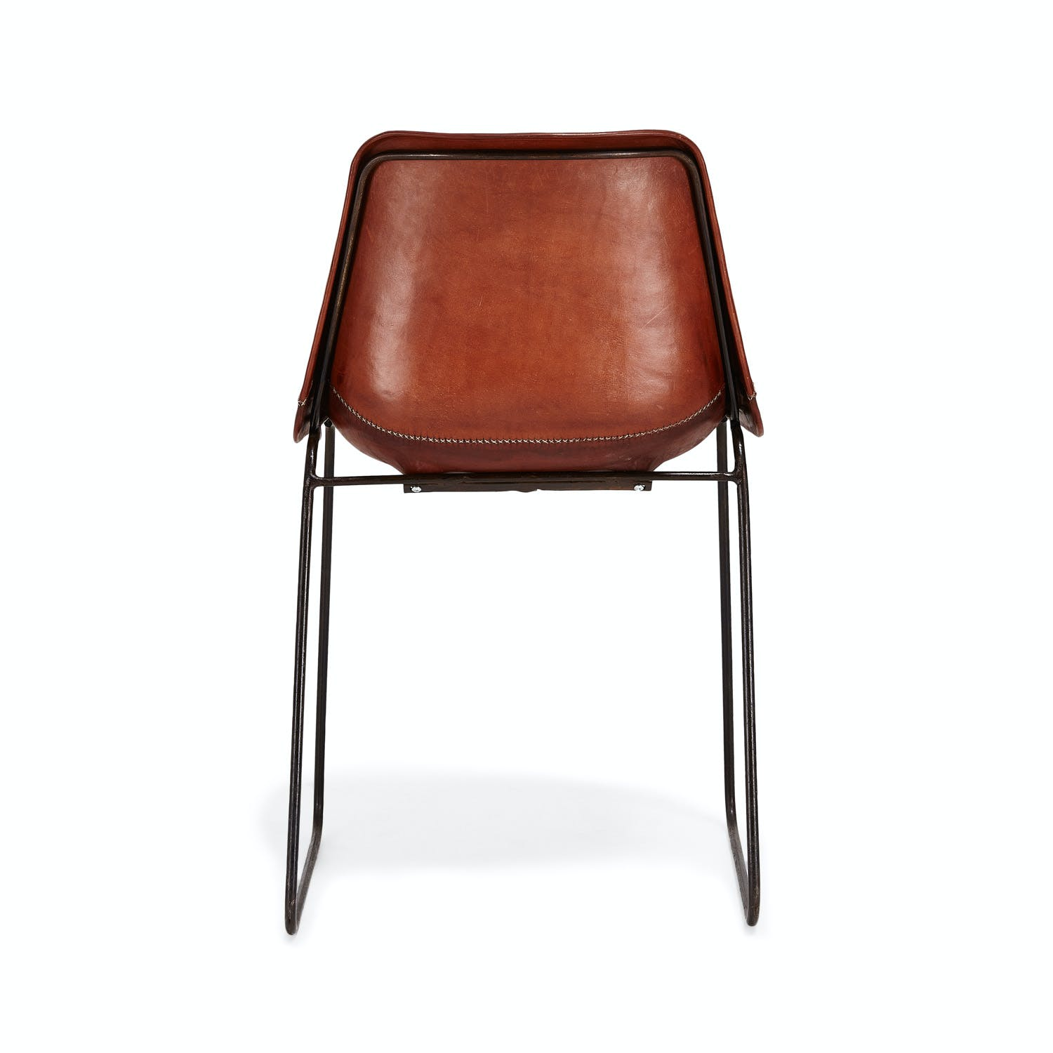 Giron Leather Chair Brown