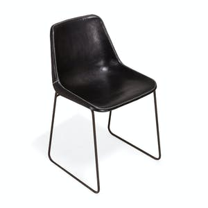 Product Image - Giron Leather Chair Black