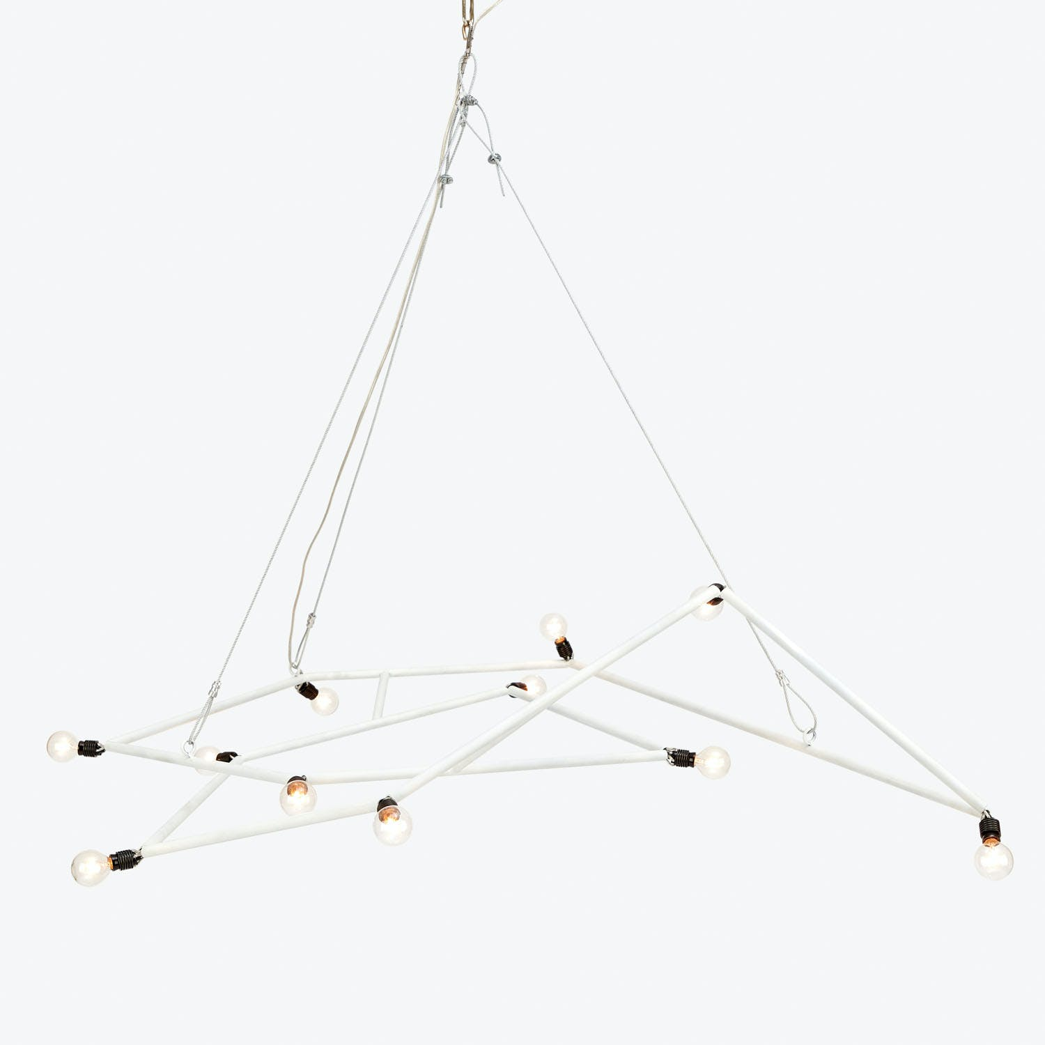 Susan Woods Medium Molecular Chandelier White
