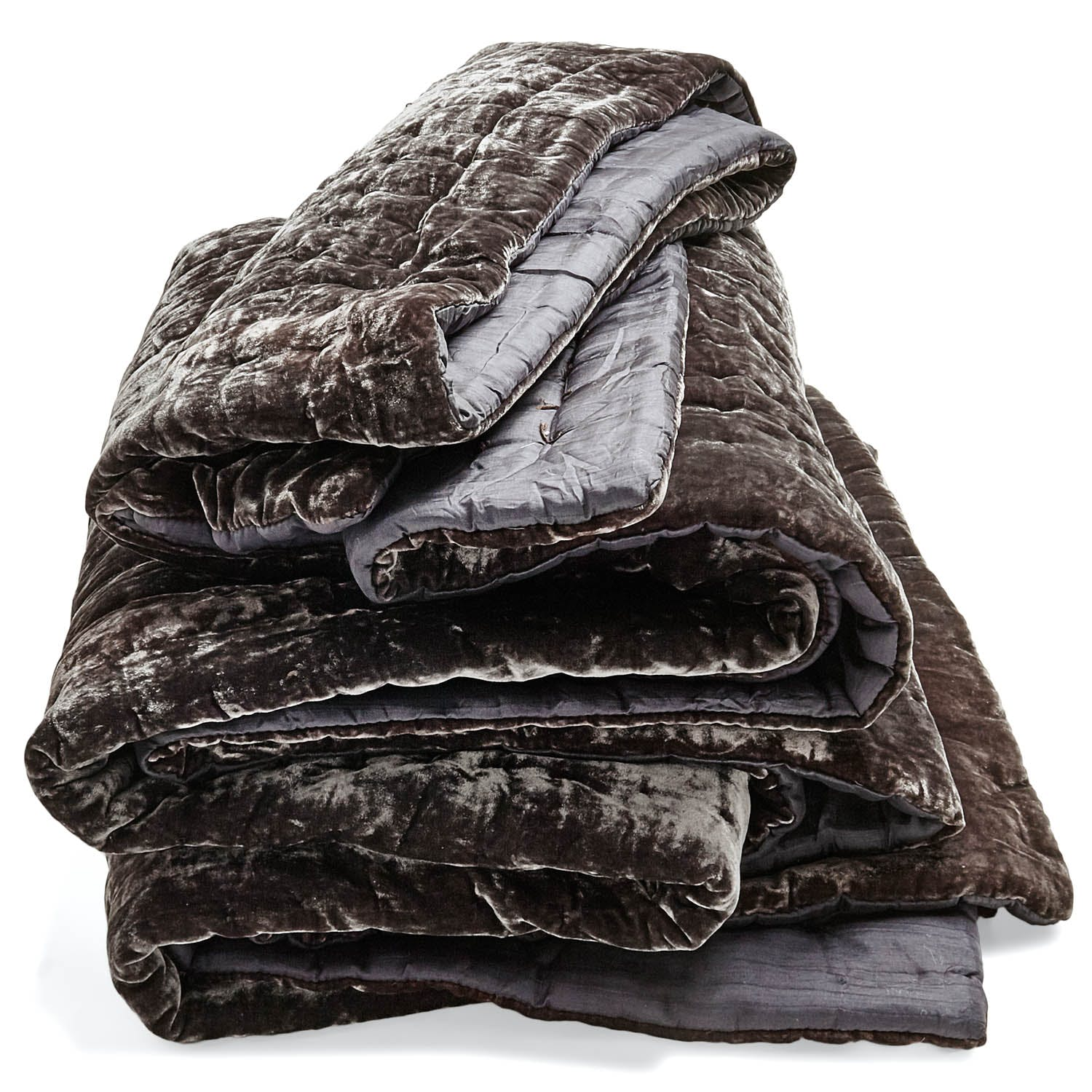 abcDNA Luminous Charcoal Velvet Quilt