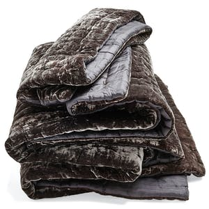 Product Image - Luminous Velvet Quilt Charcoal
