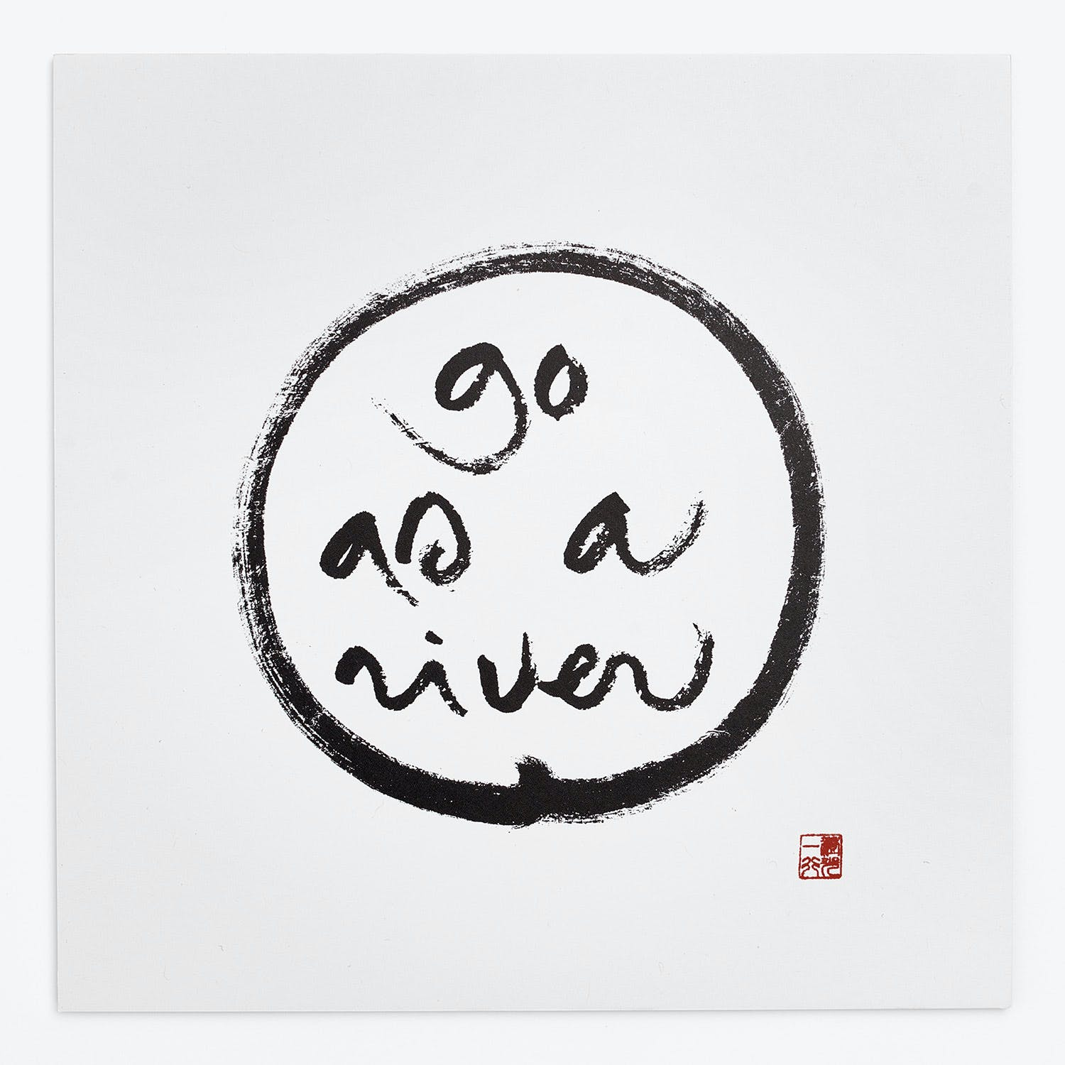 Product Image - Thich Nhat Hanh Go As A River Art Card