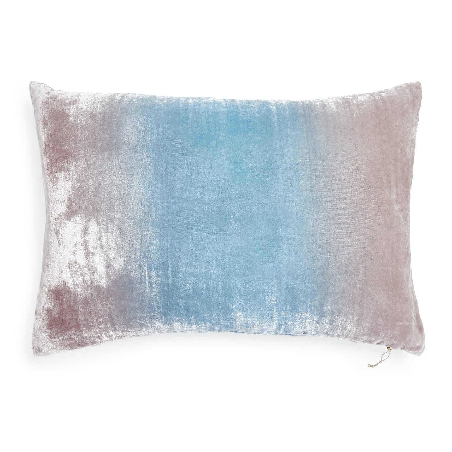 Ombre Velvet Pillow Robins Egg