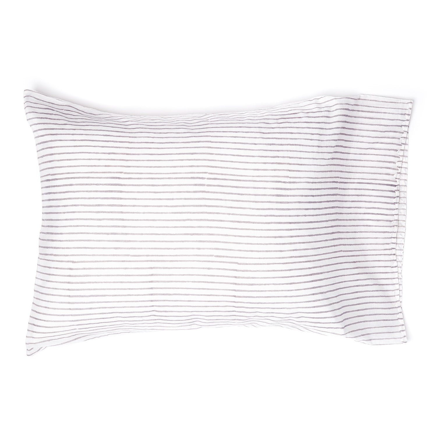 Product Image - Stripes Pillowcase Charcoal
