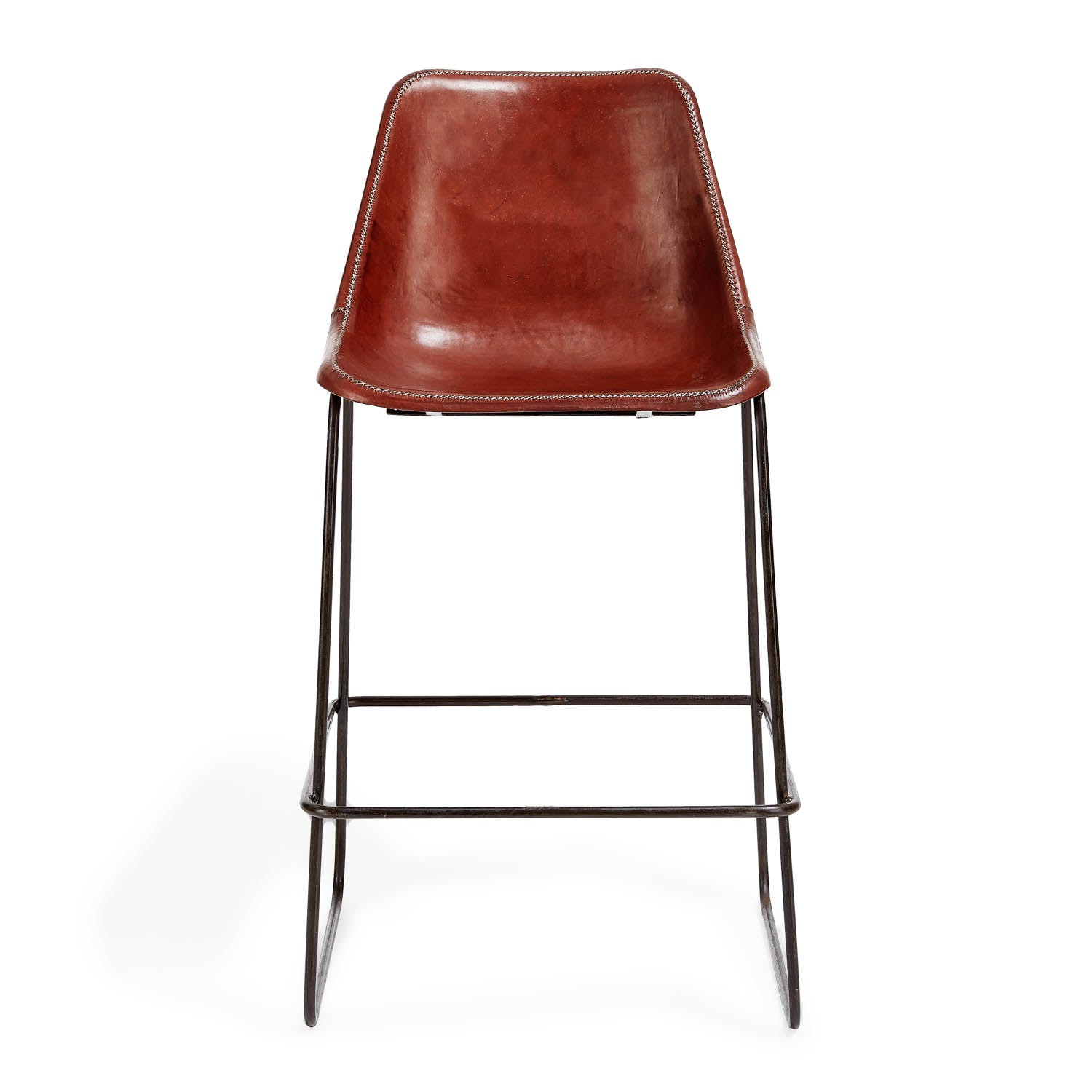 Product Image - Giron Leather Counter Stool Brown