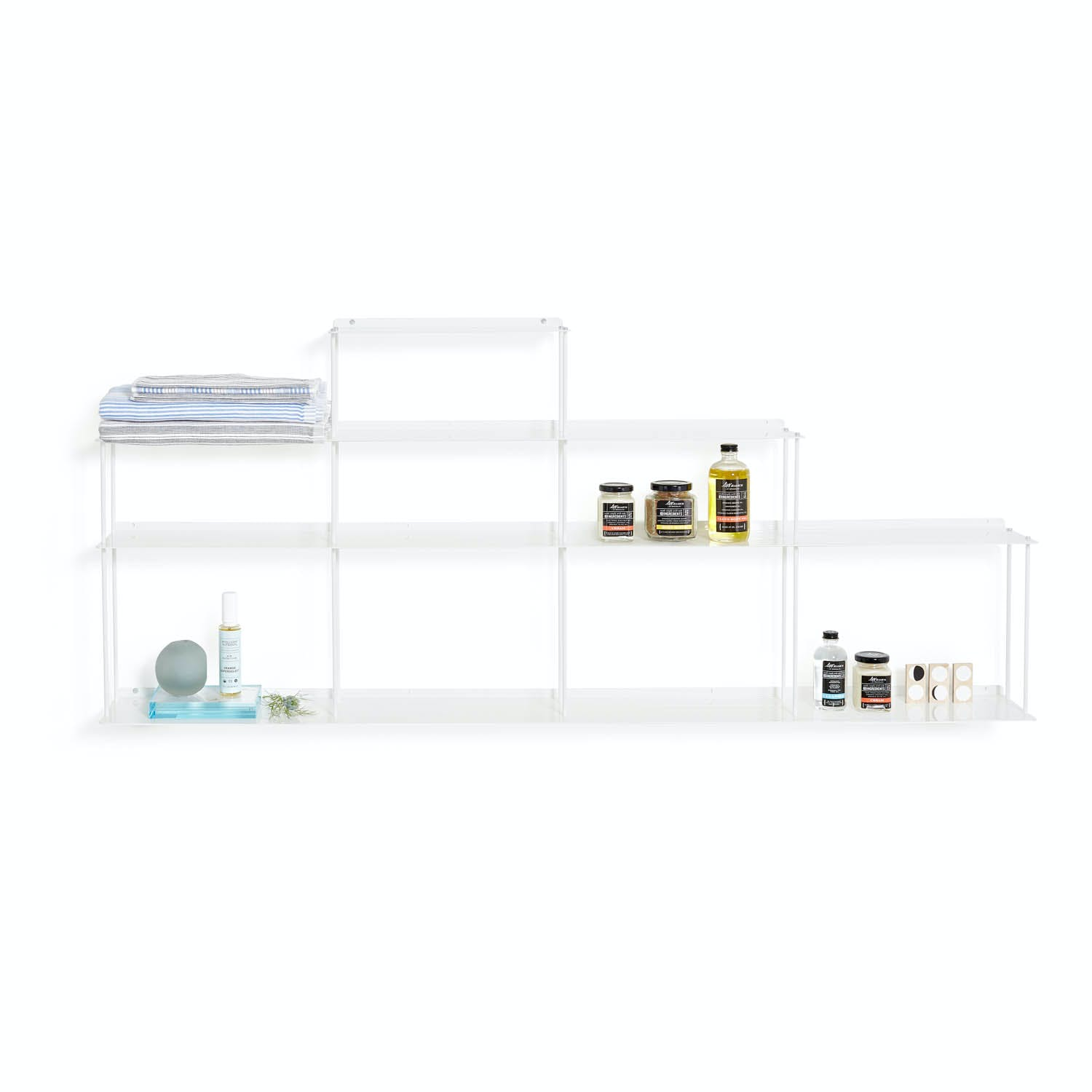 Invisi 8-Shelf Bookcase