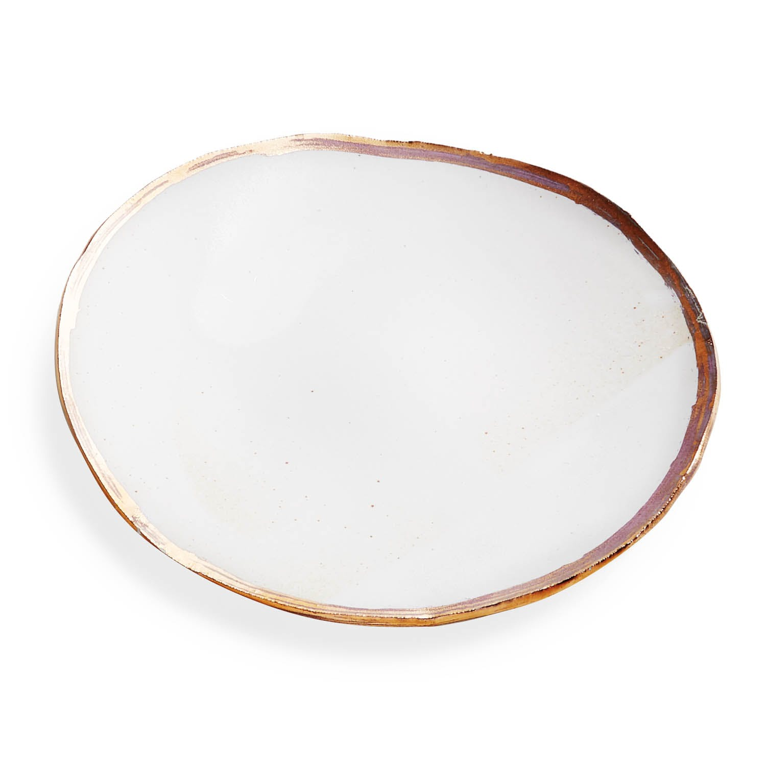Product Image - Porcelain Bread and Butter Plate Gold Luster