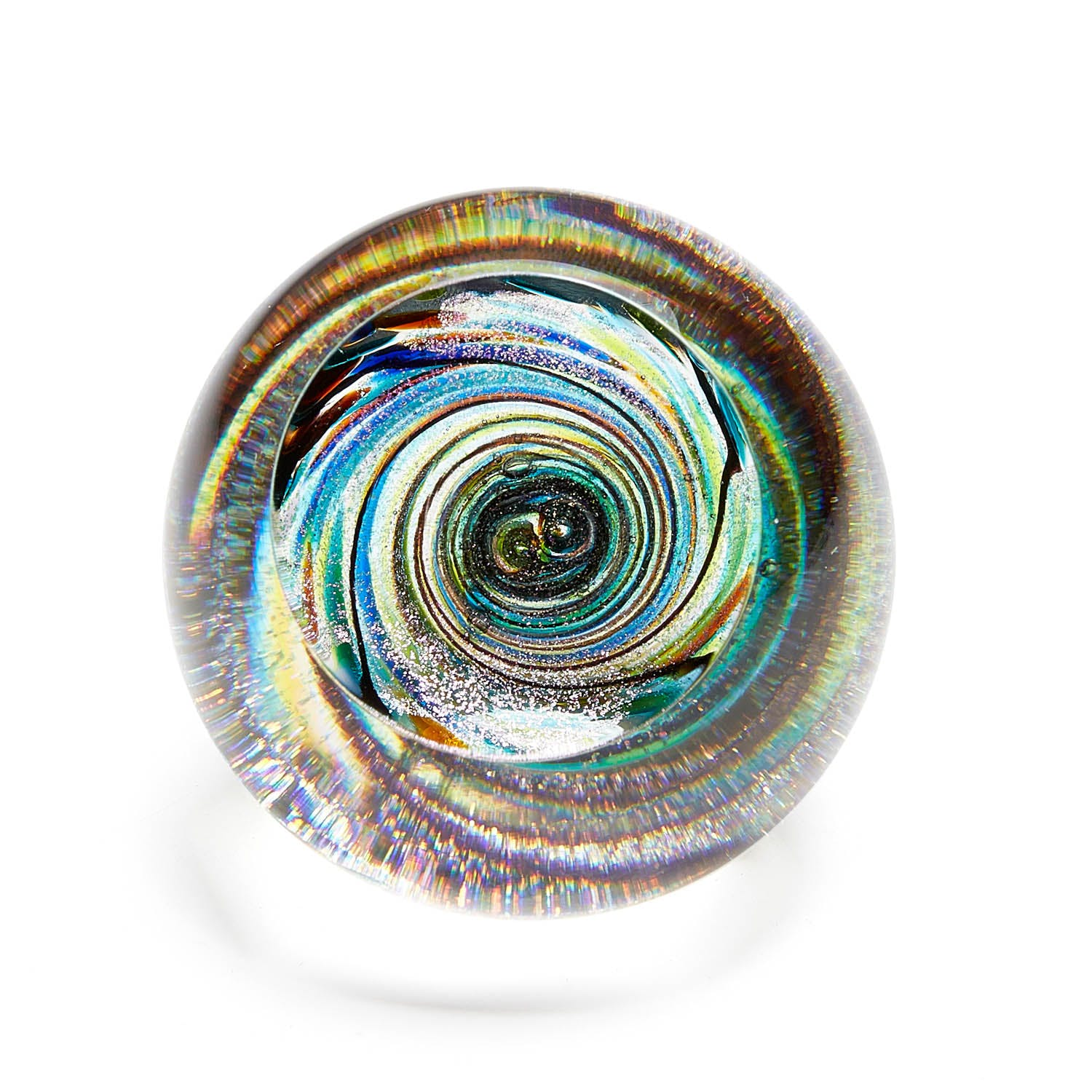 Product Image - Glass Eye Studio Blue Celestial Glass Paperweight