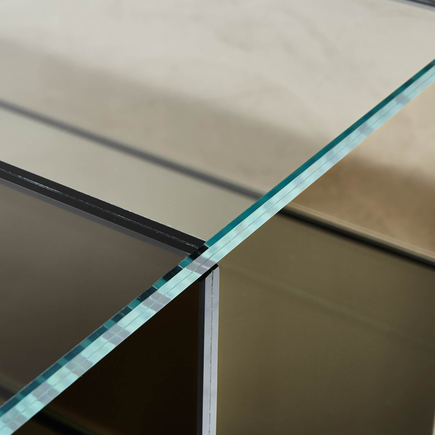 Glas Italia Coffee Table Smoky Gray