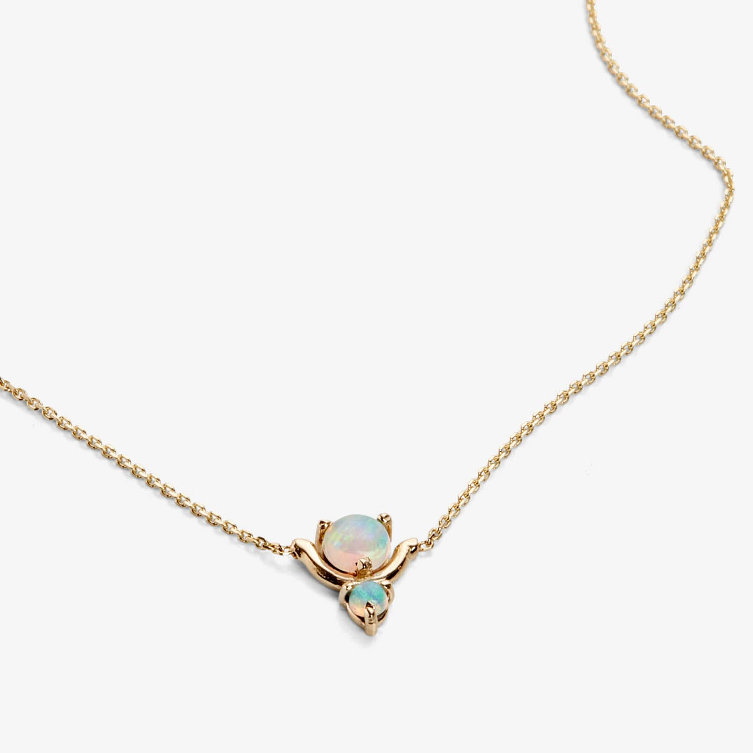 Nestled Double Opal Necklace