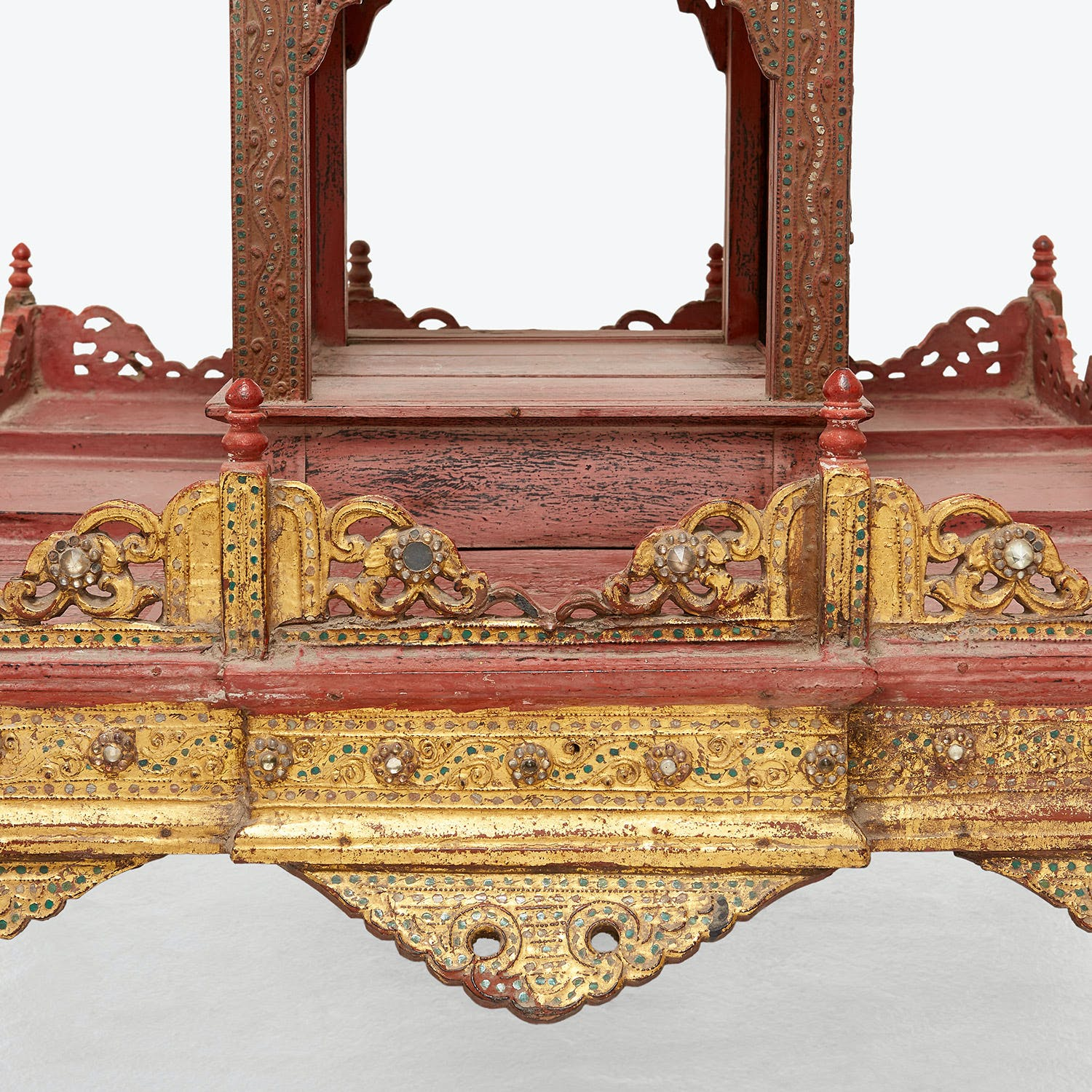 Antique Myanmar Pagoda Altar