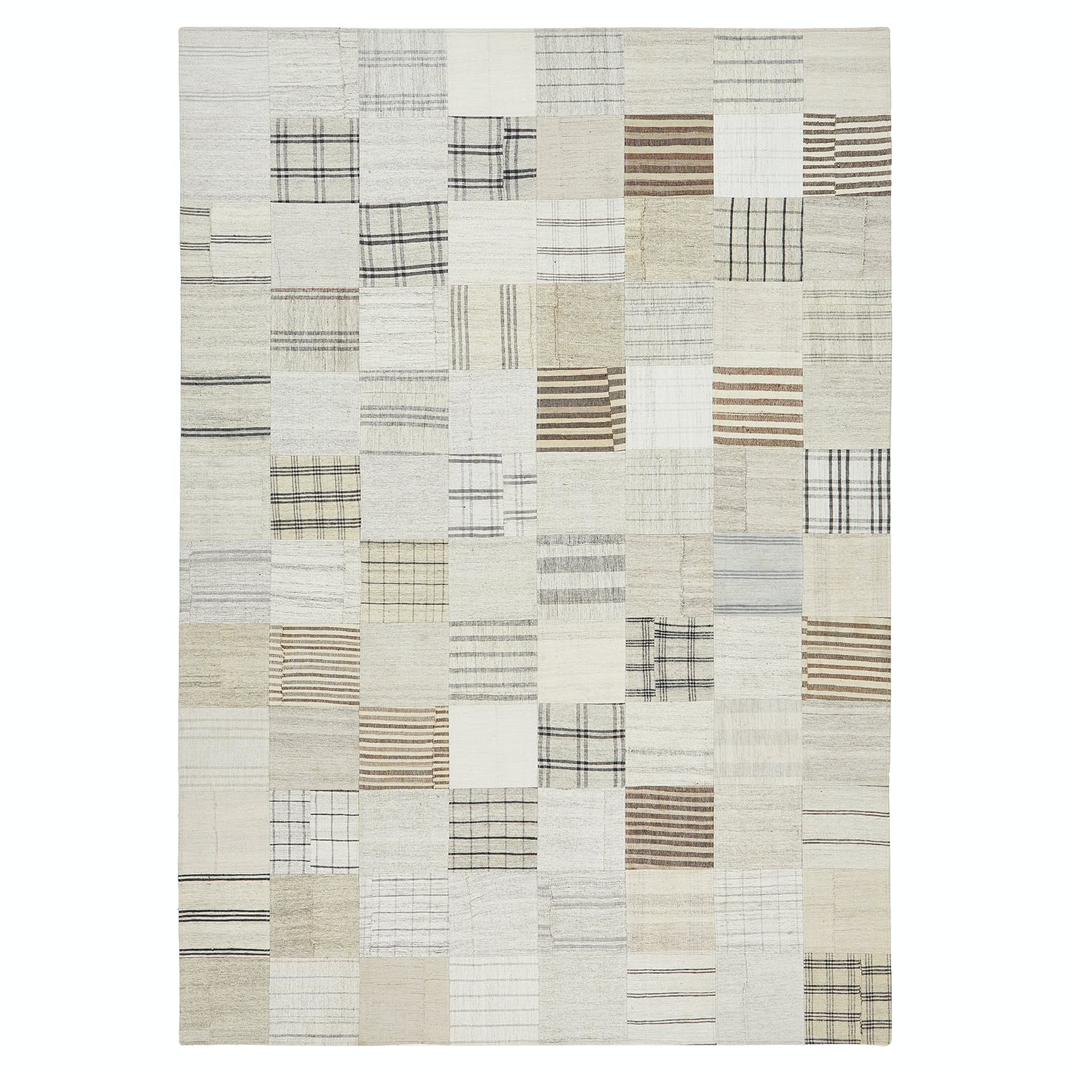 "Patchwork Flat Weave - 8'1""x11'6"""