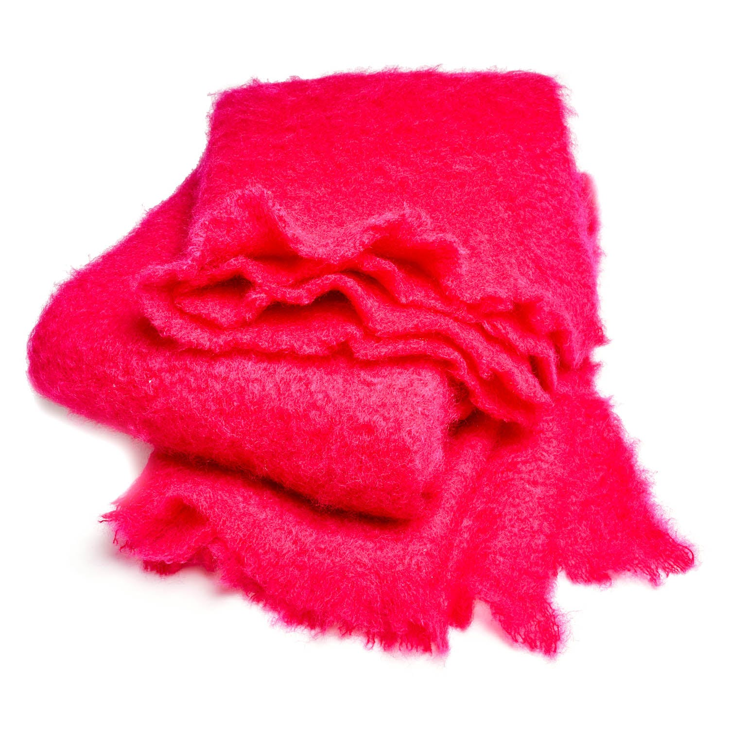 abcDNA Mohair Throw Hot Pink