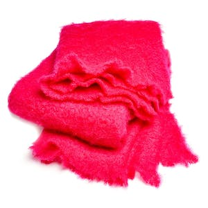 Product Image - Mohair Throw Hot Pink