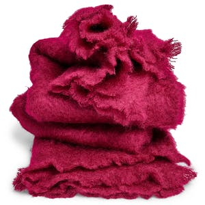 Product Image - Mohair Throw Raspberry