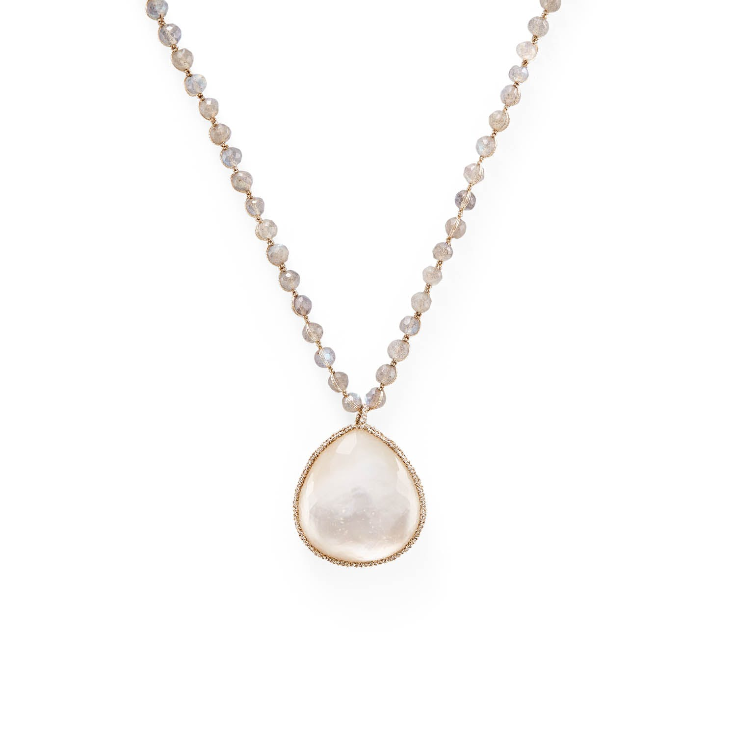 Product Image - Danielle Welmond Mother-of-Pearl Doublet Necklace