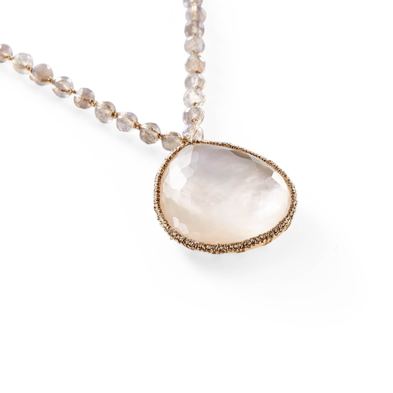 Danielle Welmond Mother-of-Pearl Doublet Necklace