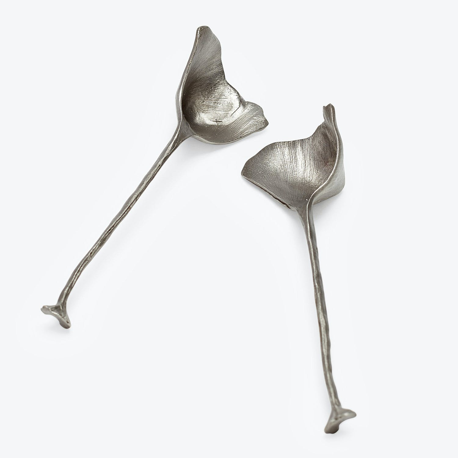 Gingko Spoon Set Pewter