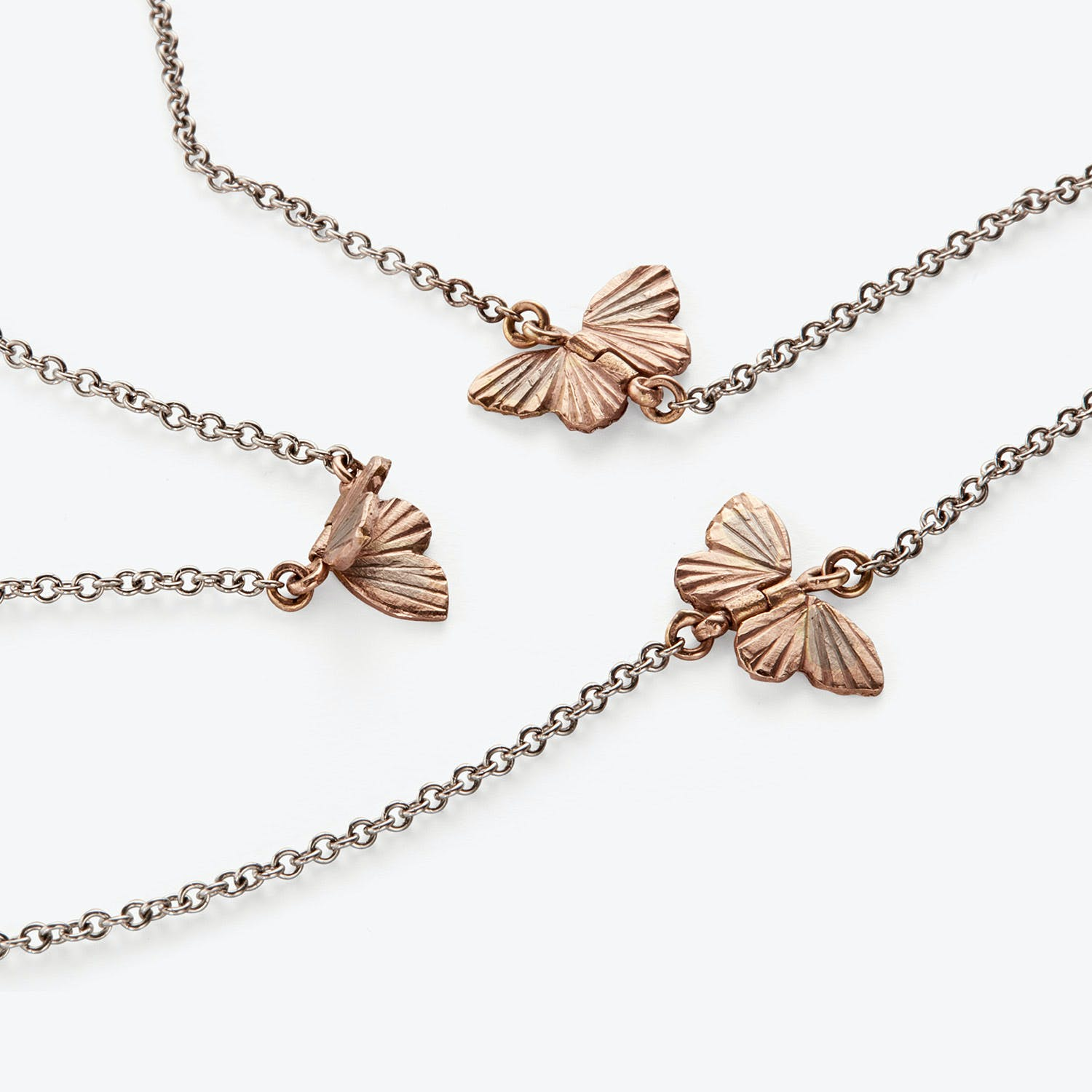 James Banks Tiny Migration Butterfly Necklace