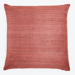 Product Image - Terracotta Raw Silk Pillow