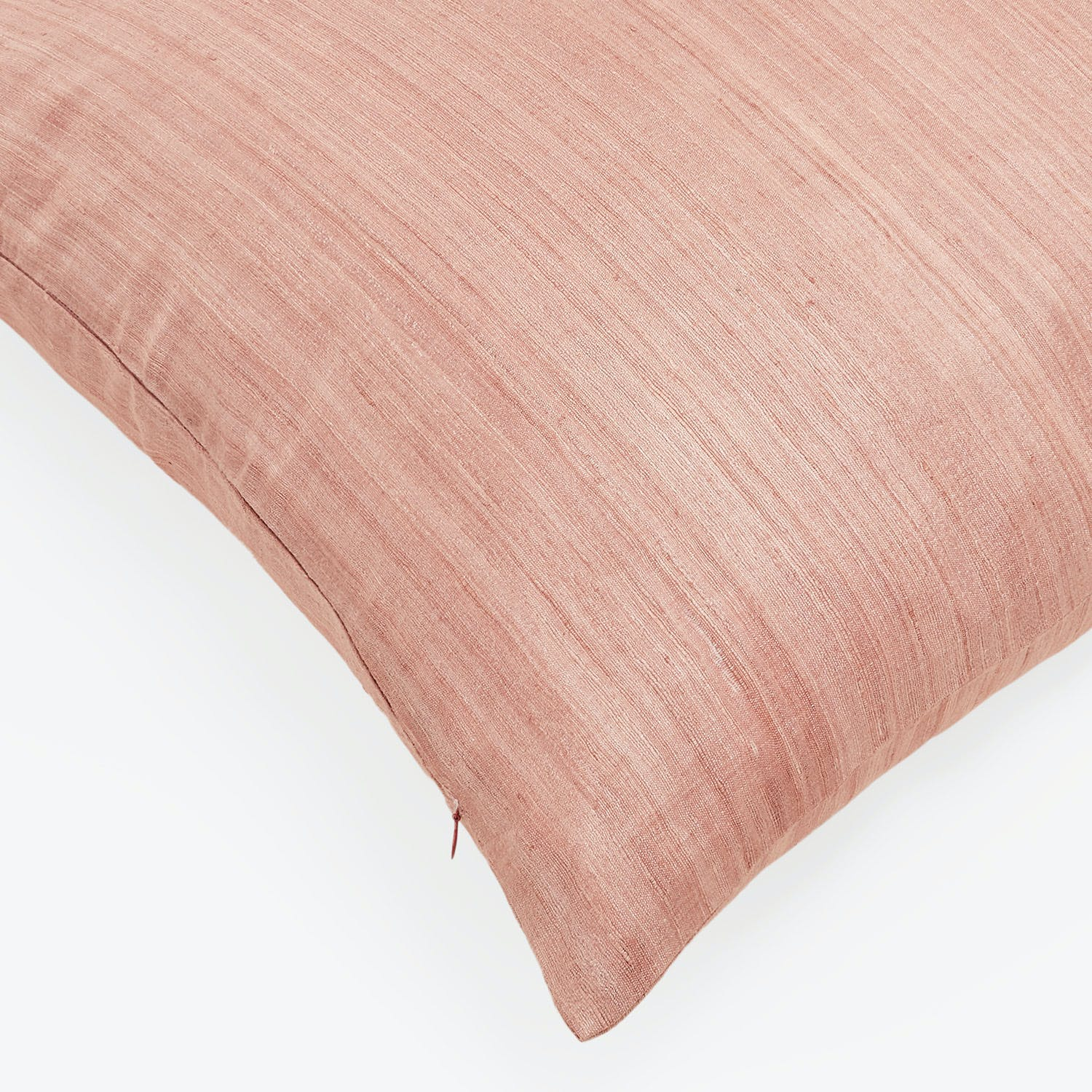 Varanasi Large Dusty Rose Raw Silk Pillow