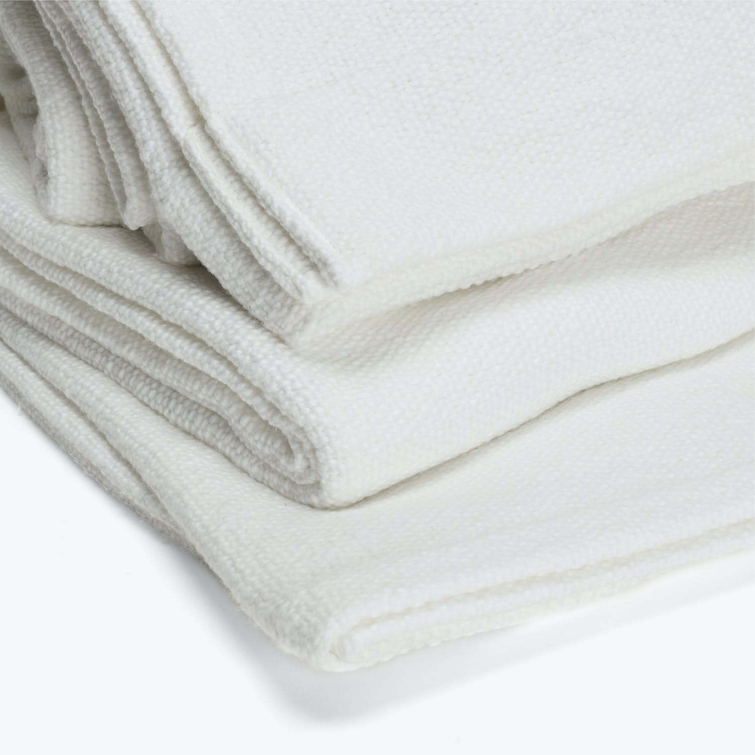 Sefte Mila Woven Cotton Blanket Queen White