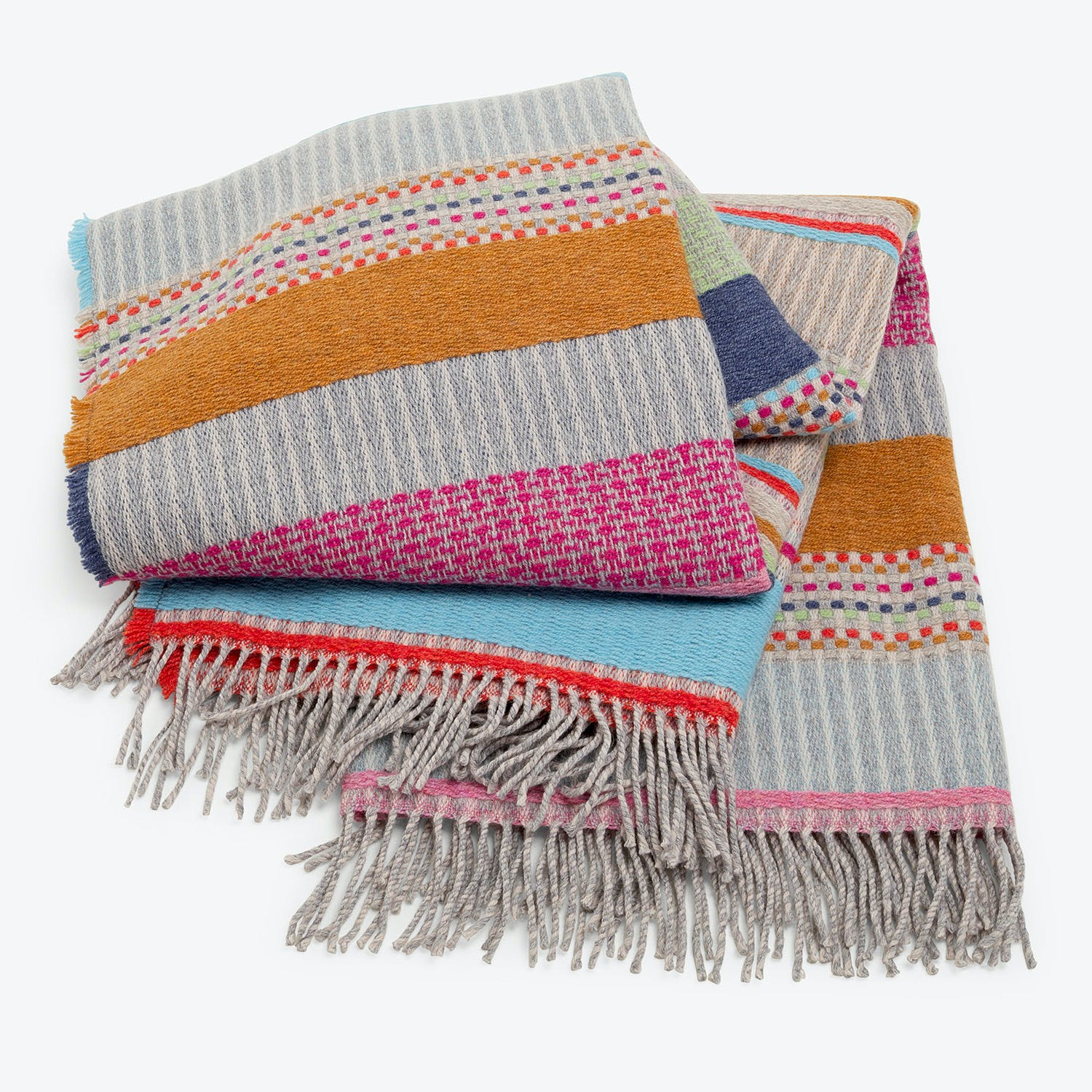Wallace Sewell Dot Throw Multicolor Pink