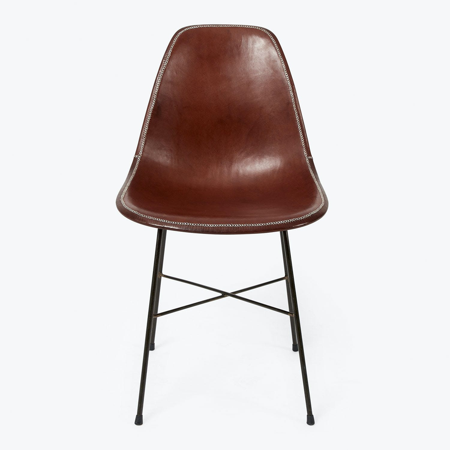 Product Image - Giron Leather Side Chair Brown