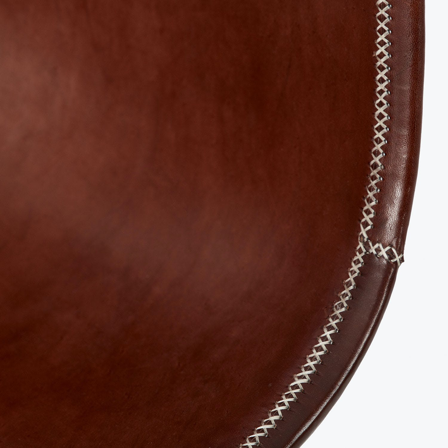 Giron Leather Side Chair Brown