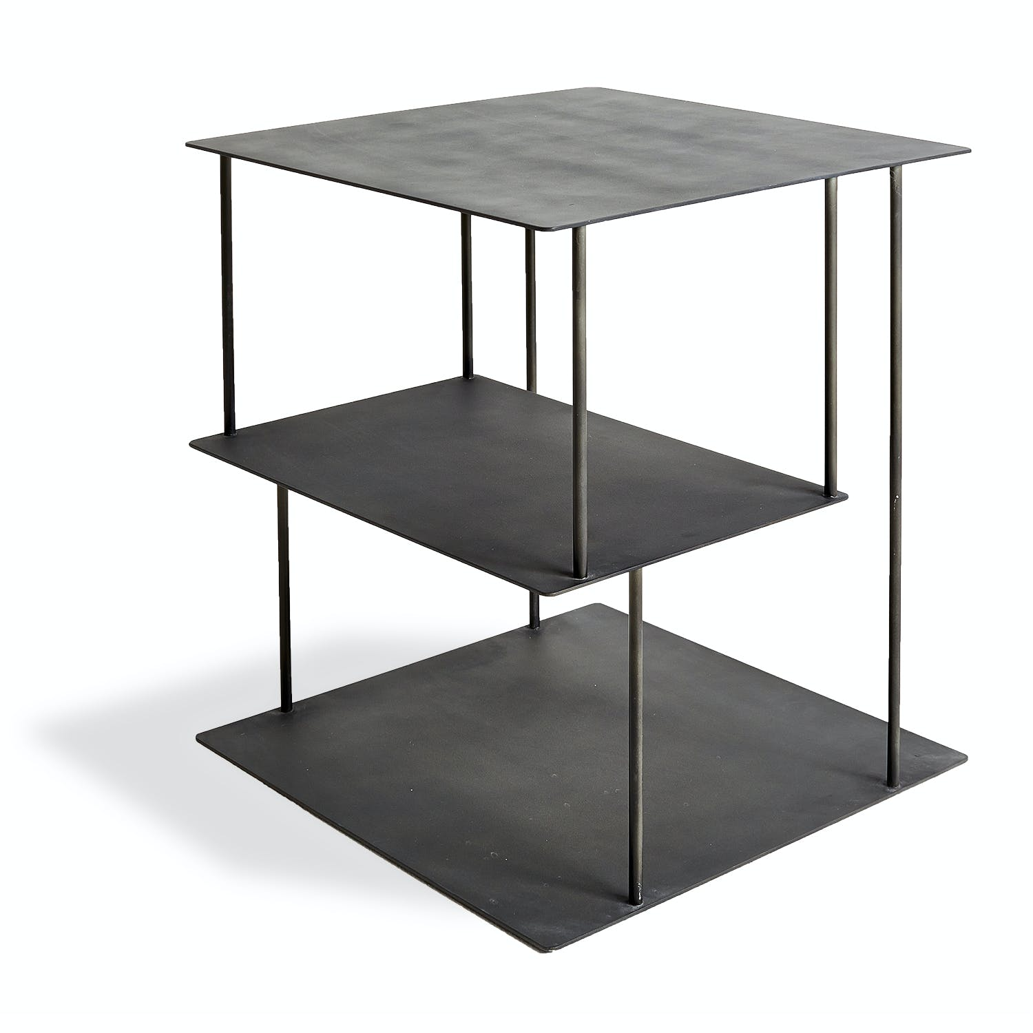 abcDNA Helix Steel Side Table Black