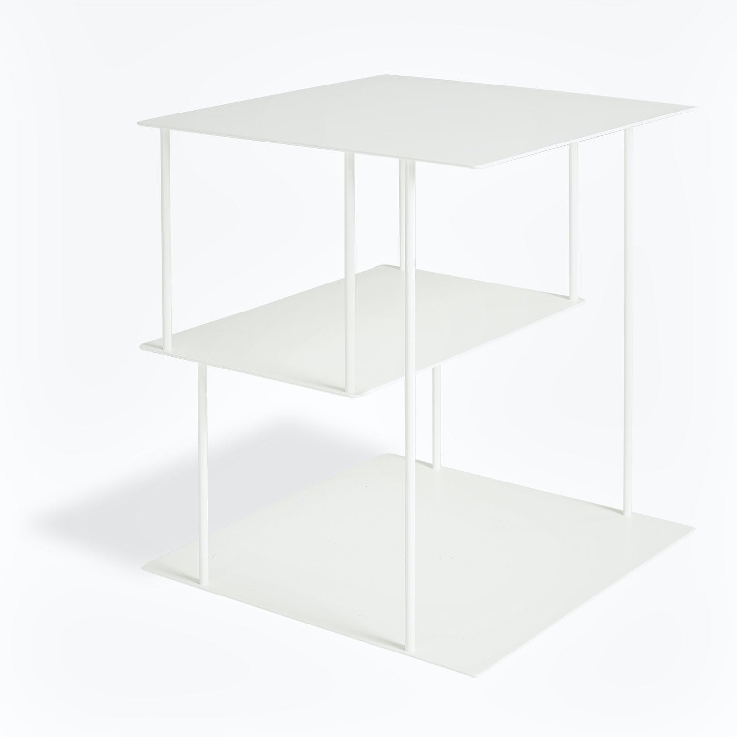 abcDNA Helix Steel Side Table White