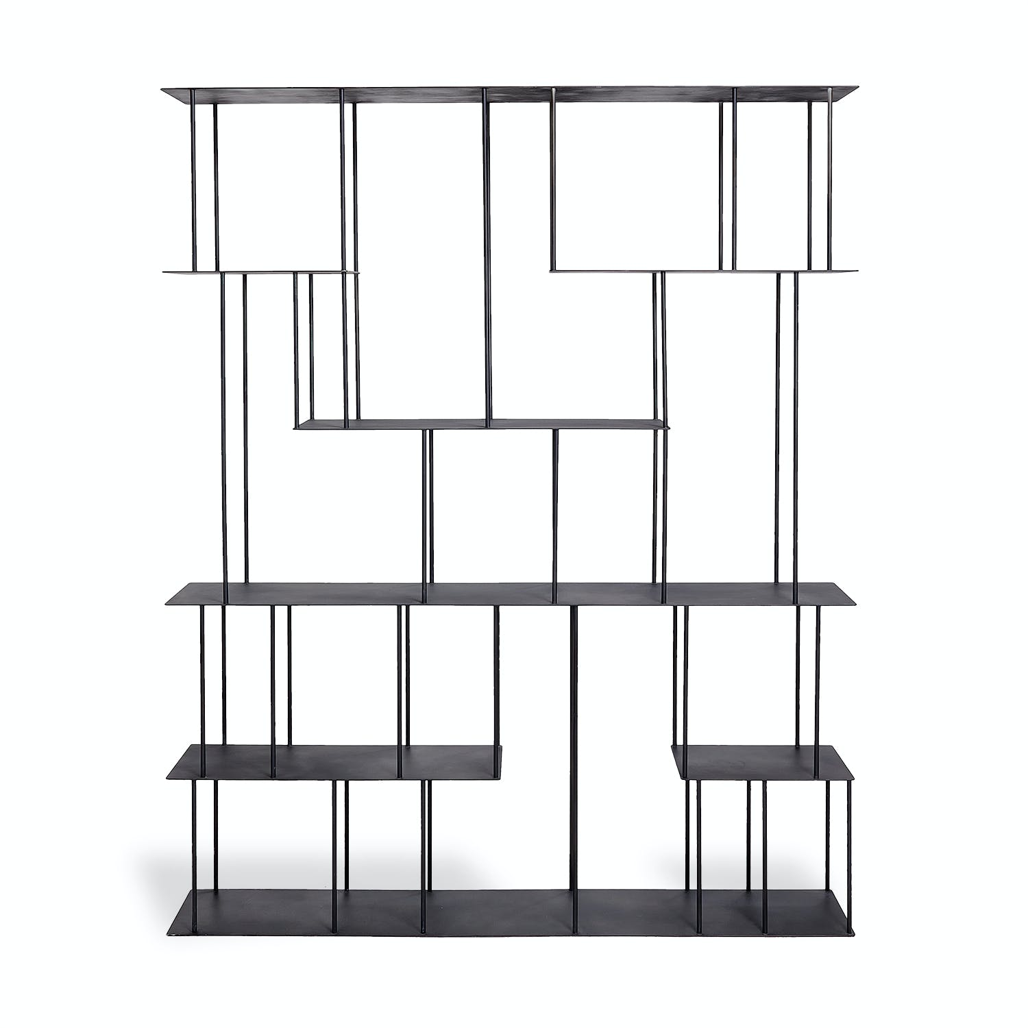 Product Image - Helix Steel Wide Bookcase Black