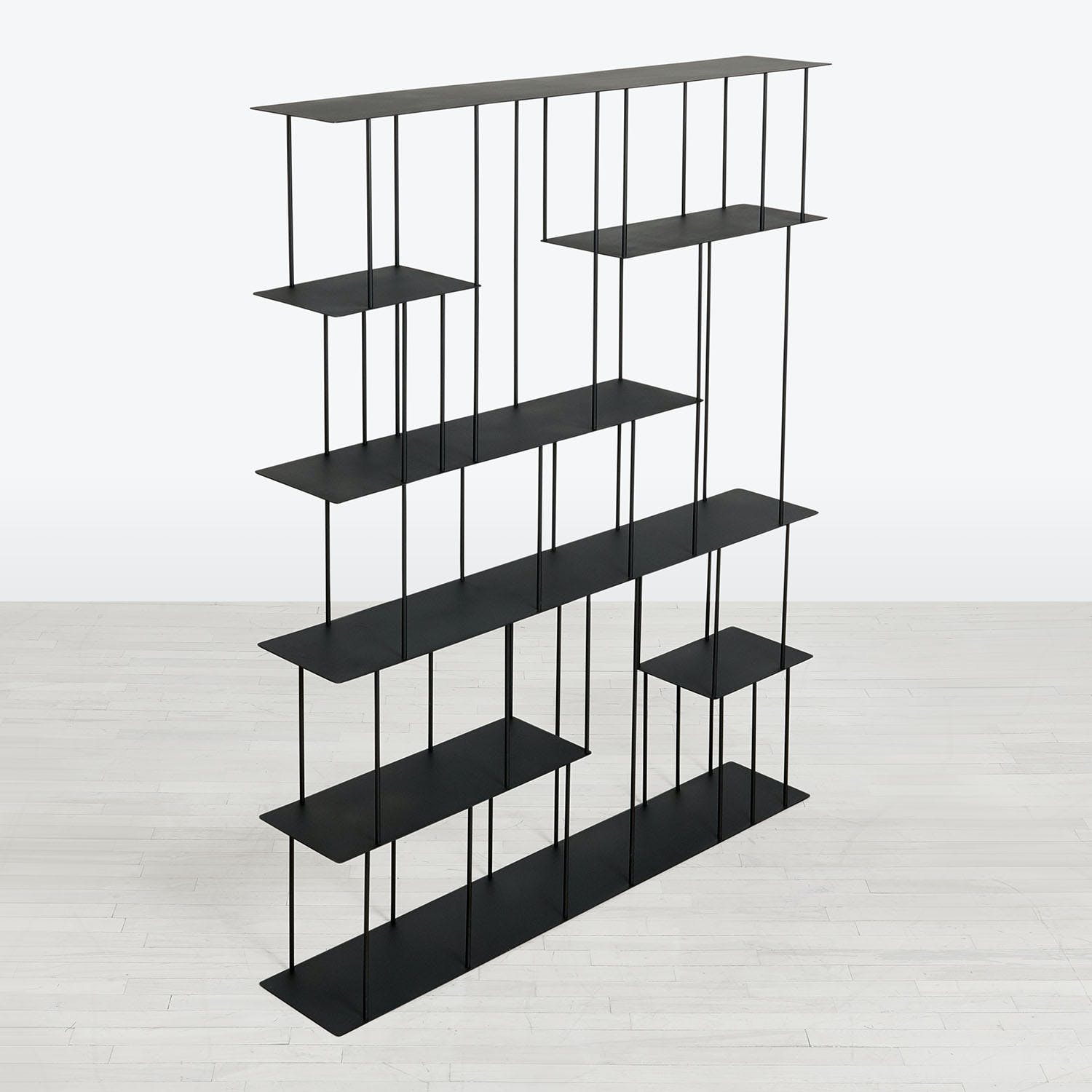 abcDNA Helix Steel Wide Etagere Black