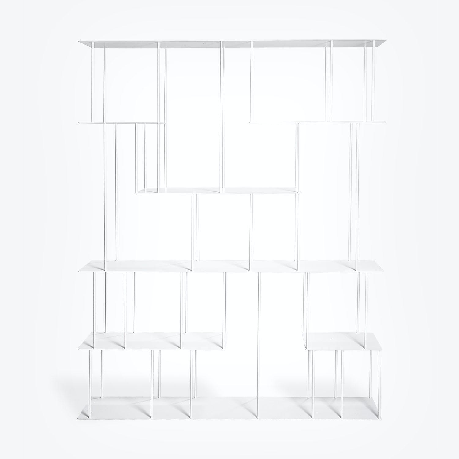 Product Image - Helix Steel Wide Bookcase White