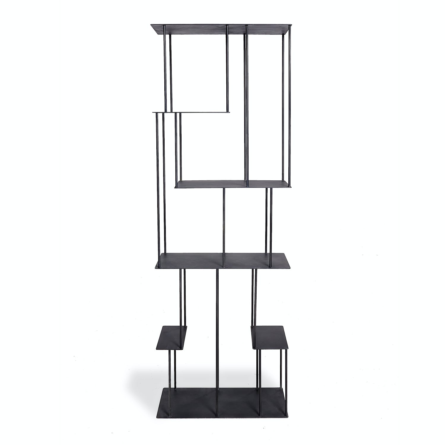 Product Image - Helix Steel Narrow Bookcase Black