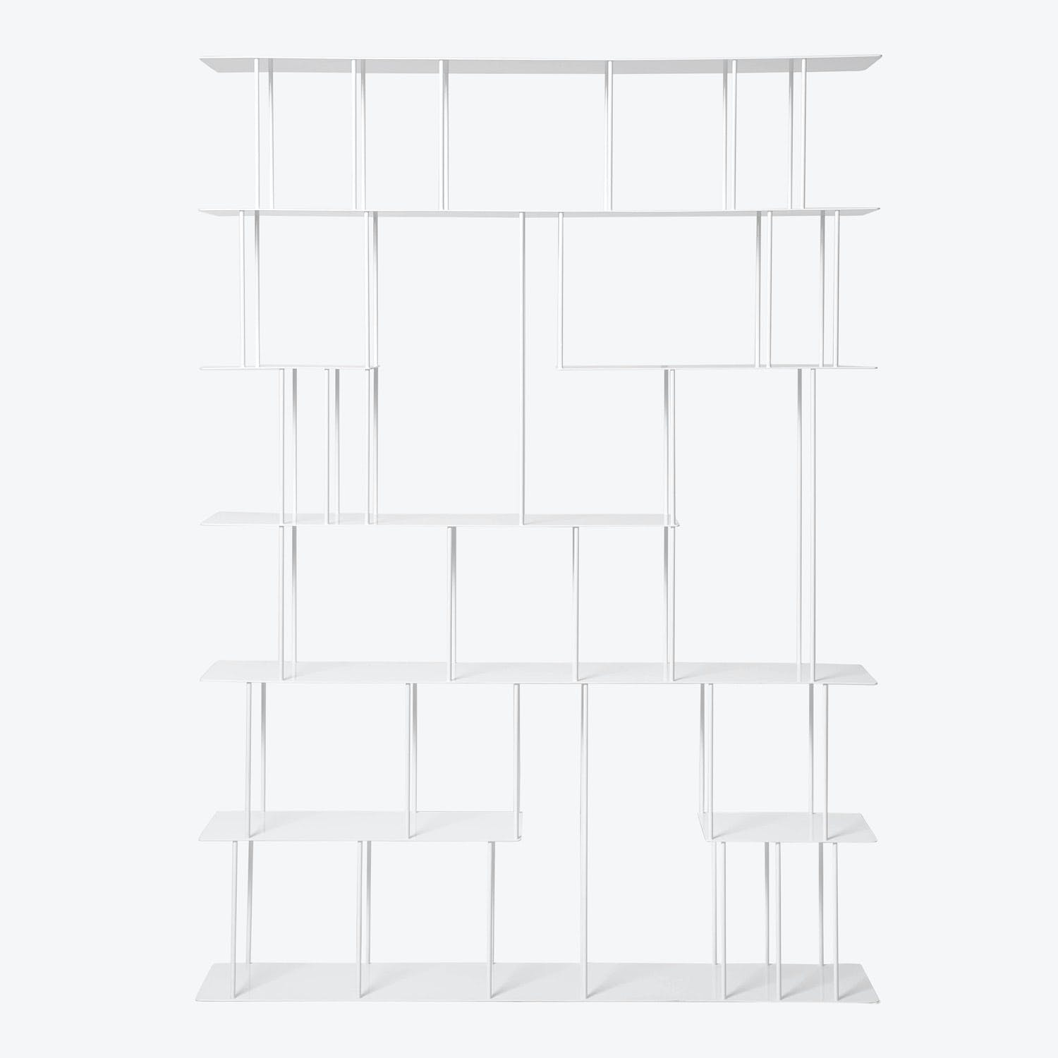 Product Image - Helix Tall Wide Steel Bookcase White