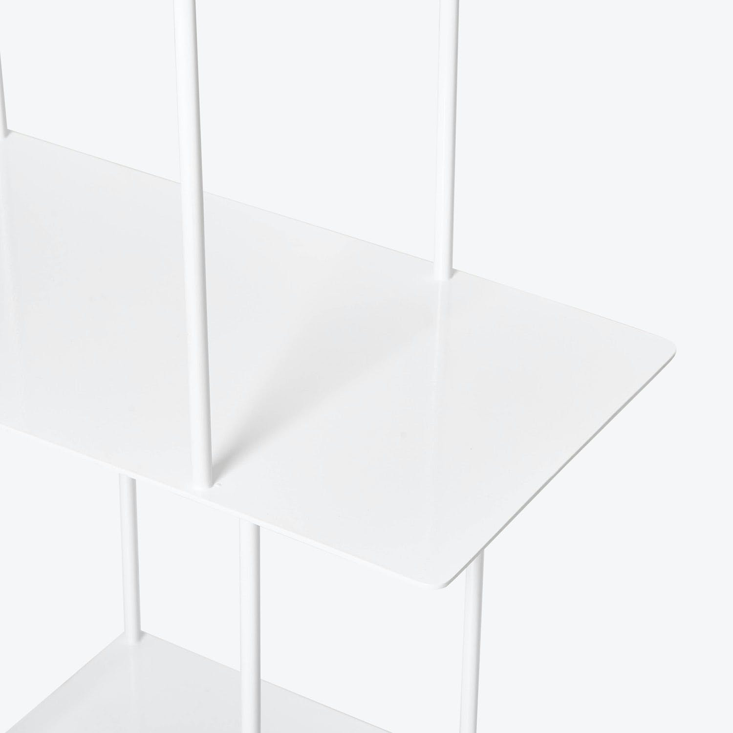 abcDNA Helix Tall Wide Steel Etagere White
