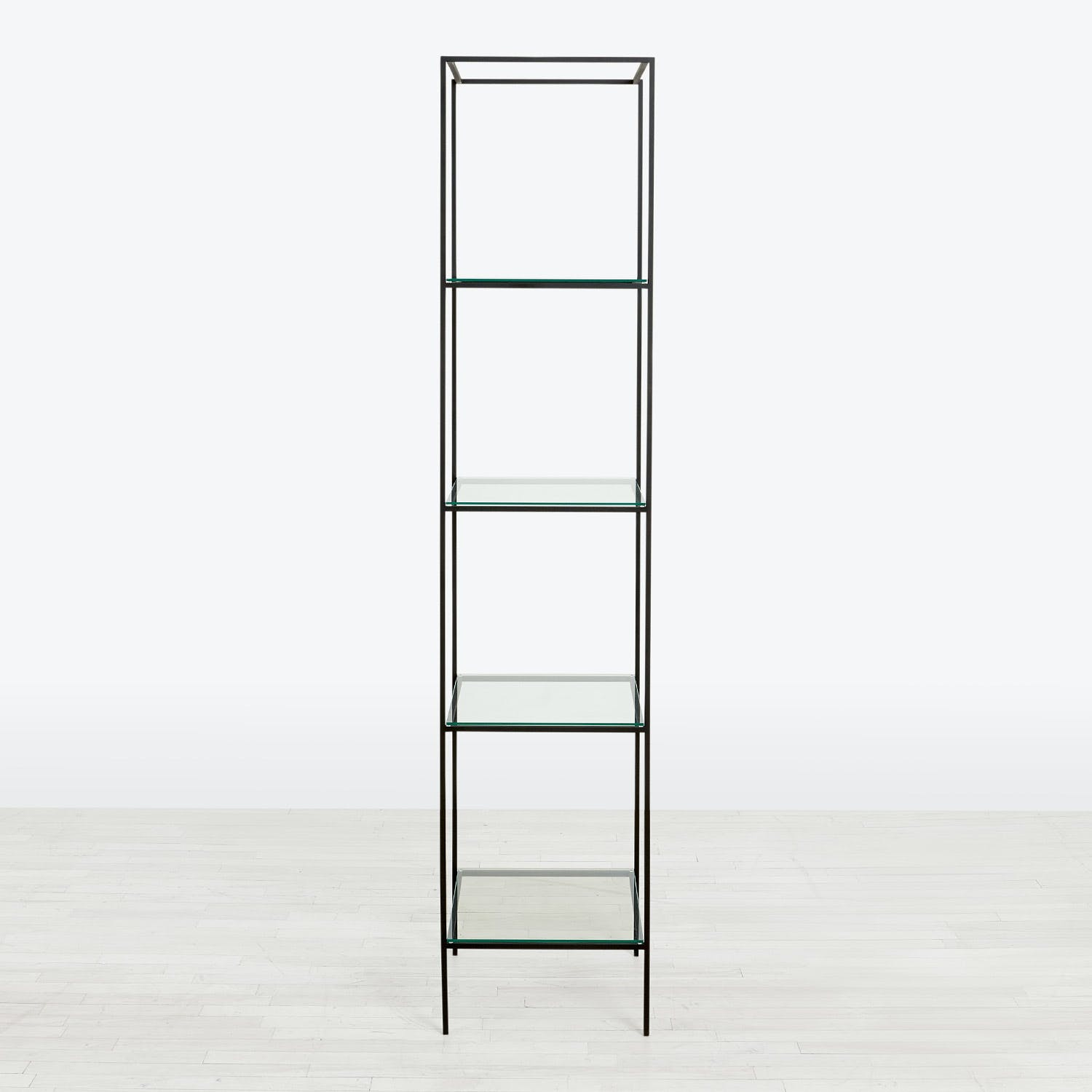 Product Image - Synthesis Glass 5-Tier Narrow Bookcase