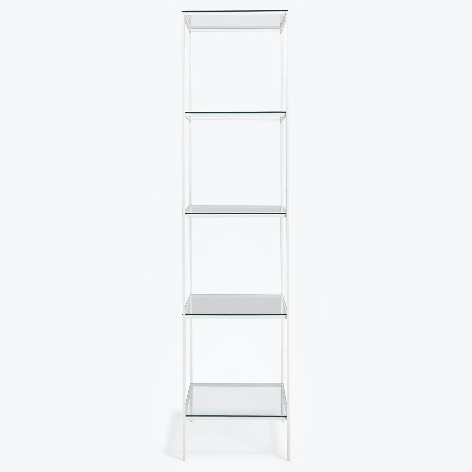 Product Image - Synthesis Glass 5-Tier Narrow Bookcase White