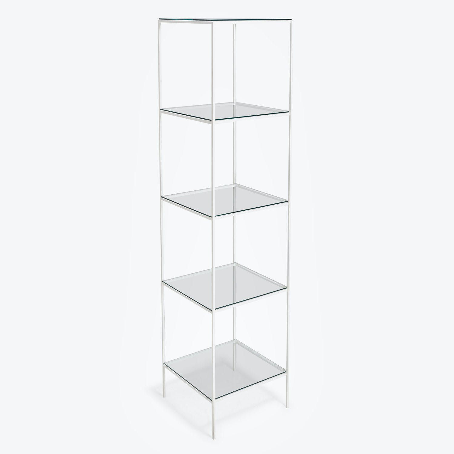 abcDNA Synthesis Glass 5-Tier Narrow Shelving White