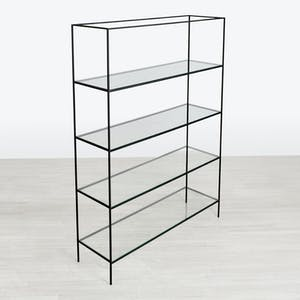 Product Image - Synthesis Glass 5-Tier Wide Bookcase