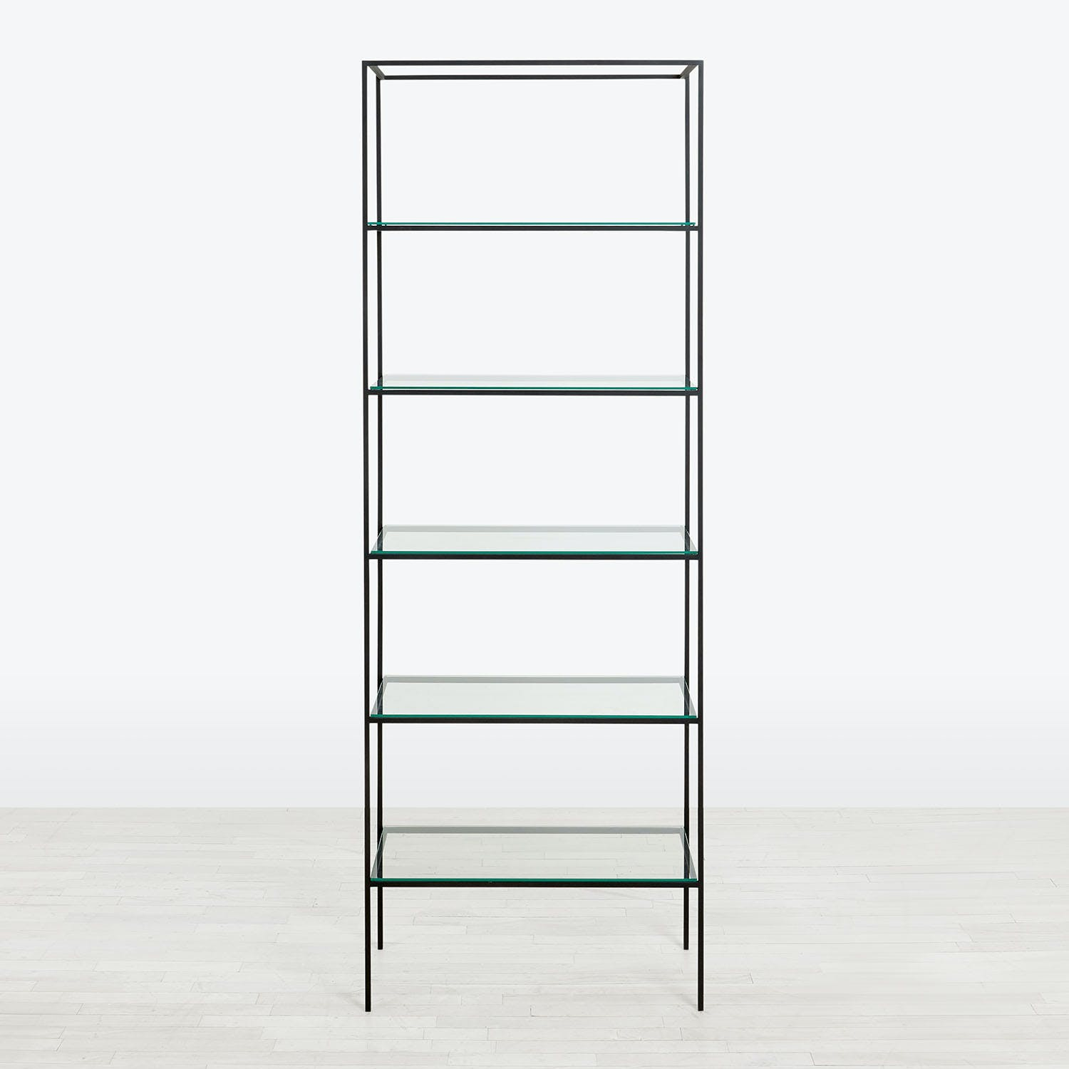 Product Image - Synthesis Glass 6-Tier Wide Bookcase