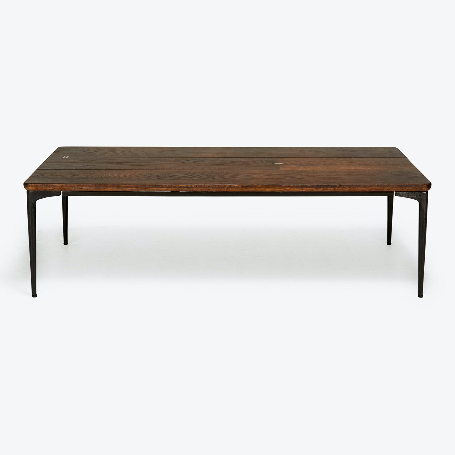 Product Image - Core Brass Inlay Coffee Table Dark Oak