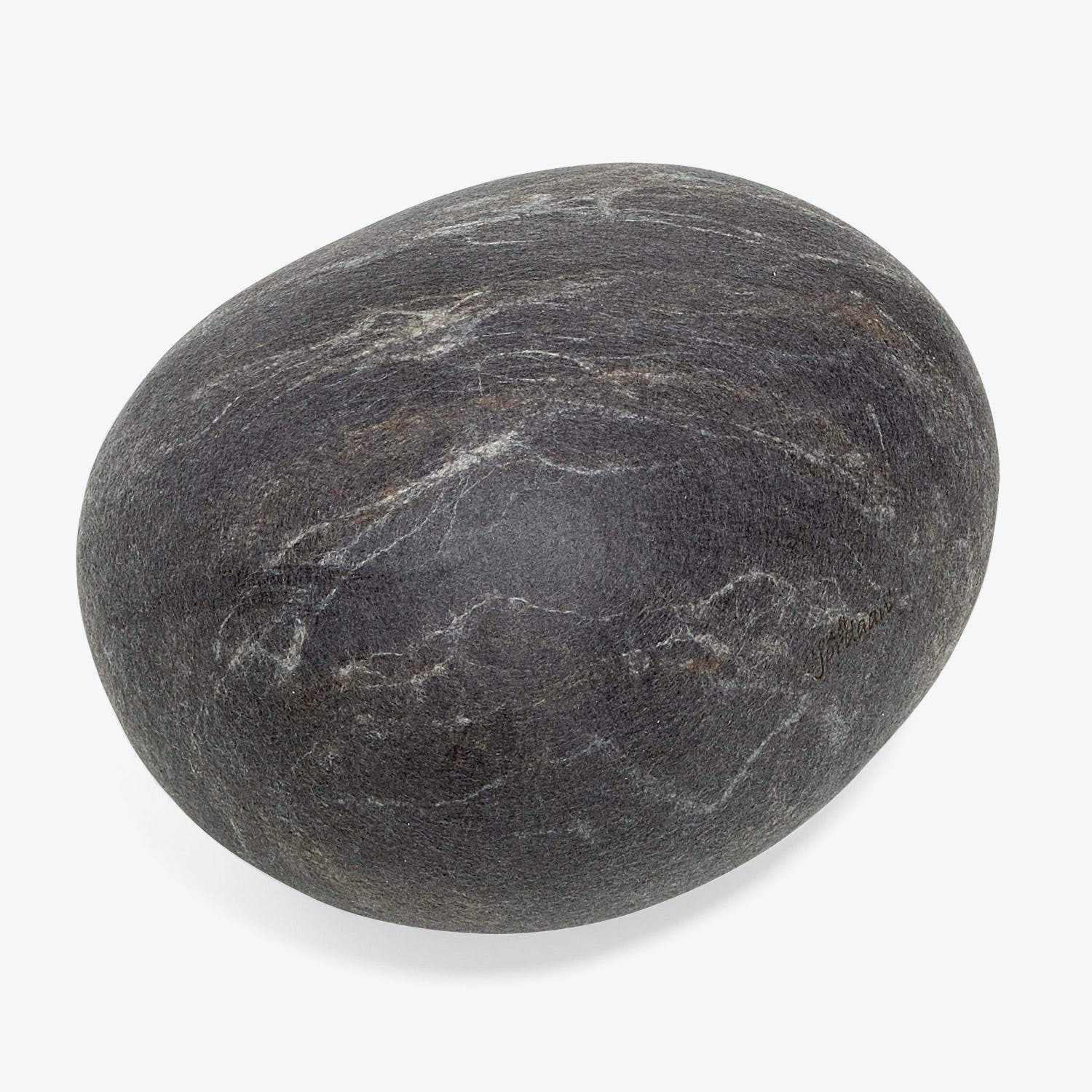 Product Image - Ronel Jordaan Small Felted Rock Cushion Dark Gray
