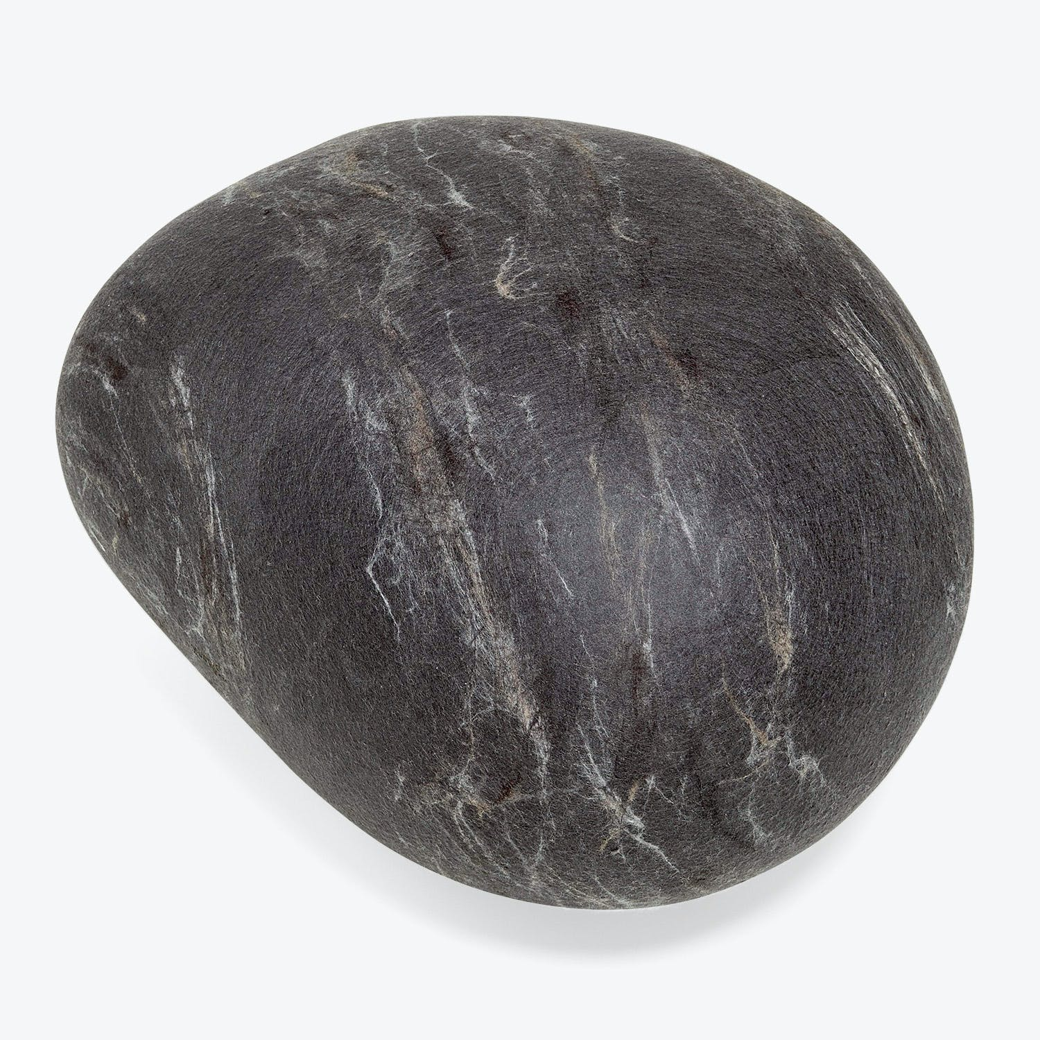 Product Image - Ronel Jordaan Large Felted Rock Cushion Dark Gray